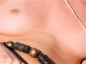 Ariana Marie leaves her delicious cooch dribbling moist