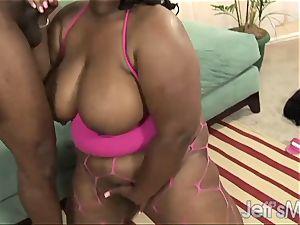 black porker Daphne Daniels gets strongly drilled
