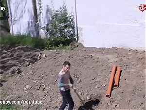 MyDirtyHobby super-steamy teen smashing the Gardener