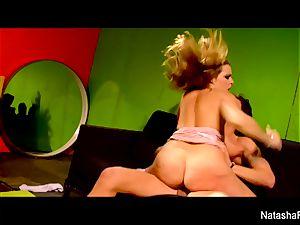 wondrous dark-haired Natasha receives a cunny screwing