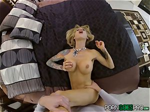 ache or delight for crazy platinum-blonde babe Sarah Jessie nailed in her splendid beaver pov fashion