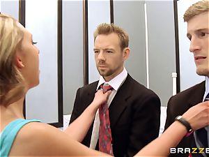 Brooke Wylde 3 way in the elevator