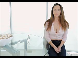 Ashley Adams chokes as her butt is ravaged