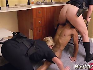 sumptuous brazilian milf and vintage young ebony masculine squatting in home gets our milf officers