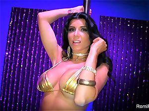 Romi Rain gets crazy on the stripper pole