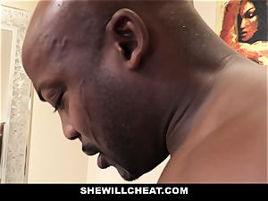 SheWillCheat - hotwife wifey pulverizes bbc in shower