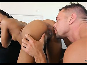 Kira Noir gobbled and dicked by a massive fuckpole
