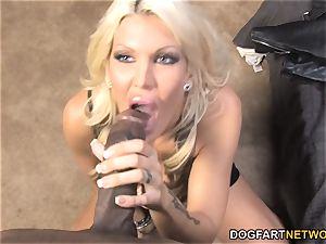 big-titted cougar Michelle McLaren pounds yam-sized ebony pecker