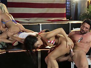 Asa Akira and Bridgette B give a off the hook show