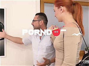 unsheathed audition - redhead Eva Berger spurting casting