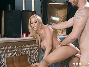 wonderful light-haired Alexis Fawx pounded doggystyle