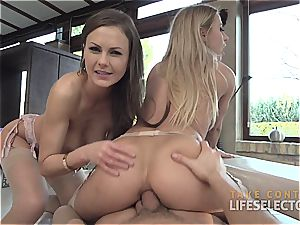 Tina Kay and Nikky Thorne - Feral buttfuck three-way