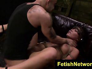 FetishNetwork Mena Li rope bondage lovemaking