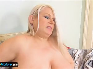 EuropeMaturE Solo huge-boobed grandmothers Compilation