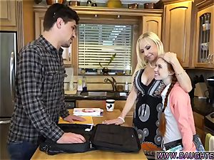 ash-blonde mom and counterpart s daughter threesome first time Dolly little is in need of some