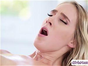 sizzling instructor Brett Rossi rubdown her schoolgirl Cadence Luxs and licks her fuckbox