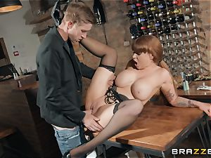 Danny inserting his huge man meat into sizzling sandy-haired