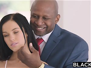 BLACKED super-fucking-hot Megan Rain Gets DP'd By Her Sugar father and His pal