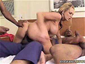 Nikki Sexx Takes Monster dark-hued shafts