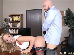 mummy boss Cherie Deville gets shafted by a thick dicked worker