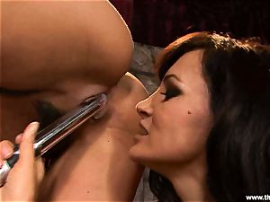 Alluring Charley chase gets plaything fucked by Lisa Ann