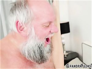 nubile banging elderly gramps