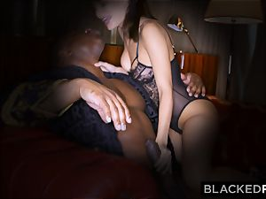 BLACKEDRAW wifey loves his hefty dark-hued man rod a little too much
