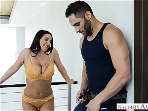 Lusty busty Australian Angela white spunked Over After gonzo fuck