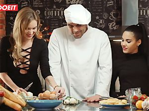 LETSDOEIT - romp Cooking With honies Apolonia and Angel
