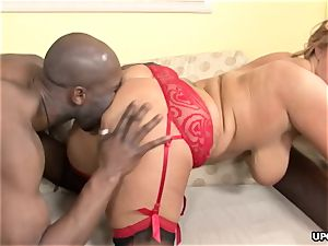 ample backside ash-blonde honey getting ruined by a big black cock