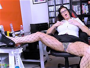 OldNannY big-chested grannie Lulu lush Solo masturbation