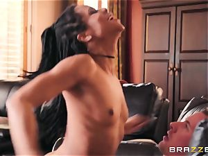 lewd, lascivious exotic dame Kira Noir wants her buddy 's bf and his thick spear