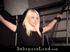 ultra-cute slave chick aggressive And mischievous restrain bondage orgasm