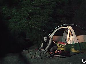 teenager mega-slut enjoys camping and outdoor poking