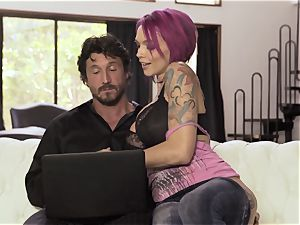 tattooed Sn 4 Anna Bell Peaks spooned in her humid crevice