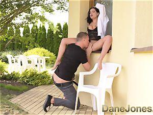Dane Jones large fun bags Serb in lingerie takes a internal cumshot