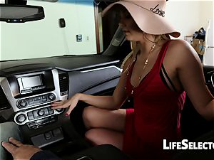 chatty milf Aaliyah enjoy gives a blow-job in your car