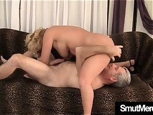 Mature nymph hairy beaver tear up