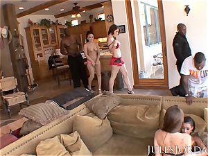 Jules Jordan - phat dark-hued shaft romp With Riley Reid