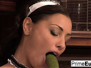 Aneta belly and Jeny get pounded