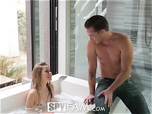 SpyFam Step sista Lilly Ford penetrated by step brutha