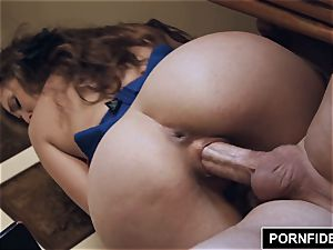 PORNFIDELITY Lena Paul hotel apartment muddy creampie