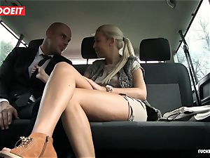 screwed In Traffic - red-hot Czech blondie pokes in the car