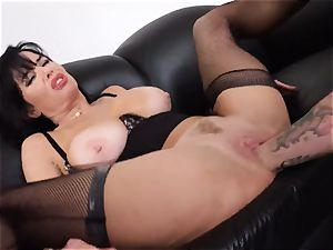 squirting black-haired Veronica Avluv twat jammed and fisted