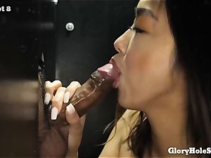kinky chinese mummy Makes enjoy with her jaws to 13 hard-ons