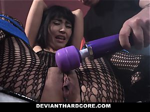 DeviantHardcore naughty asian Gets cock-squeezing beaver whipping