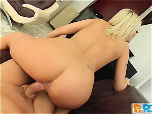 Alluring Antynia sated well doggy-style and guzzles