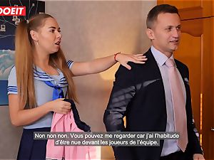 LETSDOEIT - French schoolgirl romped Until She drizzles
