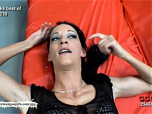 mass ejaculation time with wondrous thin Aymie - German Goo gals