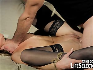 naughty fuckdoll Doris Ivy is being dominated by a perver